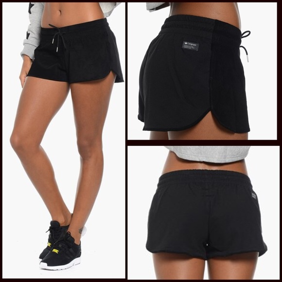 leather running shorts